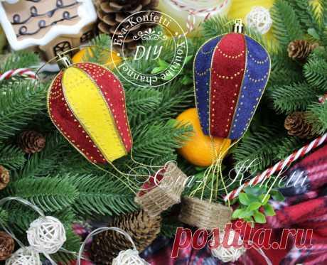 Игрушки на елку своими руками: барабан, воздушный шар и т.д.
