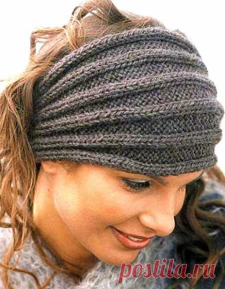 15 красивых повязок на голову спицами