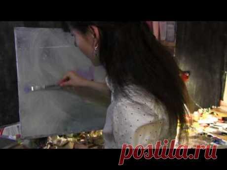 Кувшинки в импрессионизме, как написать картину, Клод Моне - YouTube