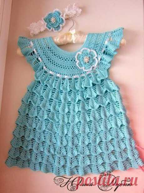 Вяжем платье для девочки