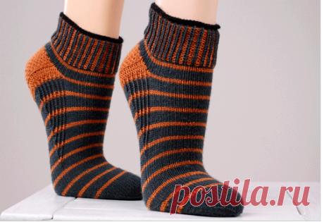 Вязание носков с укрепленной пяткой (Вязание спицами) – Журнал Вдохновение Рукодельницы