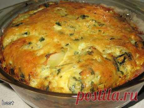 Тарт из кабачков с сыром - кулинарный рецепт