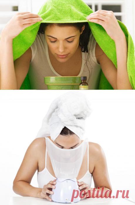 Паровая баня для очищения кожи лица. Красивое лицо во многом зависит от правильного ухода за его кожей. Одним из самых древних и эффективных способов очищения кожи являются паровые бани для лица, как результат: очищение кожи лица. Эта процедура хорошо открывает закупоренные поры кожи.