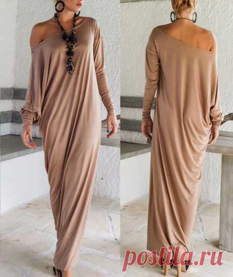 Высокое качество новых осенью женщин типа макси платья осень с длинным рукавом нерегулярные Большой размер слишком свободно обертывание платье дамы Vestidos купить на AliExpress