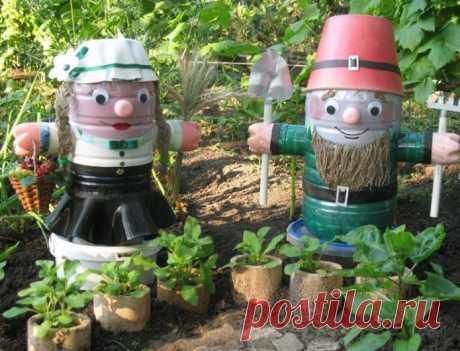 Поделки из пластиковых бутылок для сада и огорода своими руками: пошаговая инструкция с описанием, фото оригинальных идей