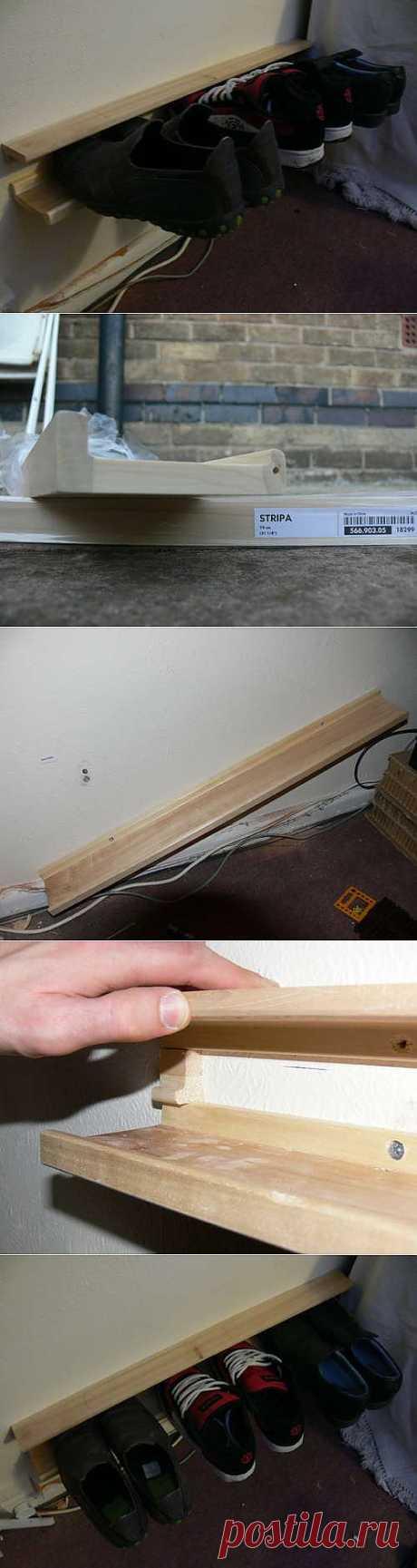 Как сделать настенный держатель для обуви / KNITLY.com - блог о рукоделии