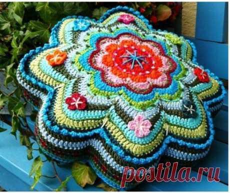 Идеи для вязания – обалденно красивые вязаные чехлы для подушек | Отражение реальности | Яндекс Дзен