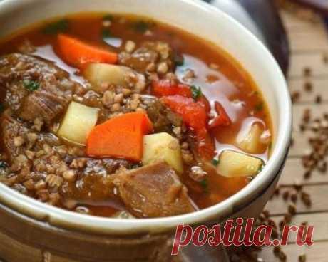 Интересные новости     Невероятно вкусный гречневый суп с говядиной на 100грамм - 189.36 ккалБ/Ж/У - 13.26/8.29/16.47