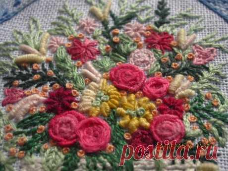 Вышивка рококо - розы: мастер-класс