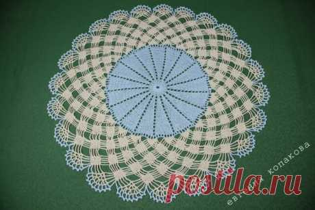 Салфетка схема с плетенкой из цепочек. Вязание крючком