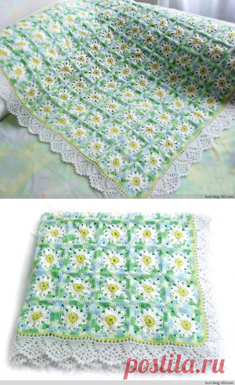 Gentle plaid from flower motives
