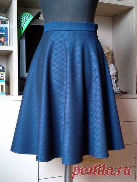 Шьем юбку-полусолнце (Шитье и крой)   Журнал Вдохновение Рукодельницы