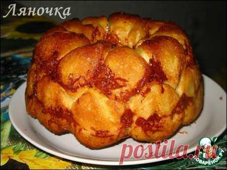 """""""Обезьяний"""" хлеб с сыром и чесноком."""