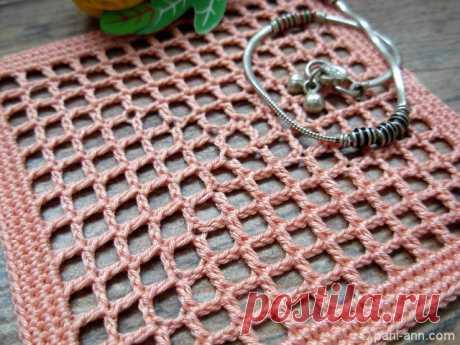 Филейное вязание от центра | Пани Аня