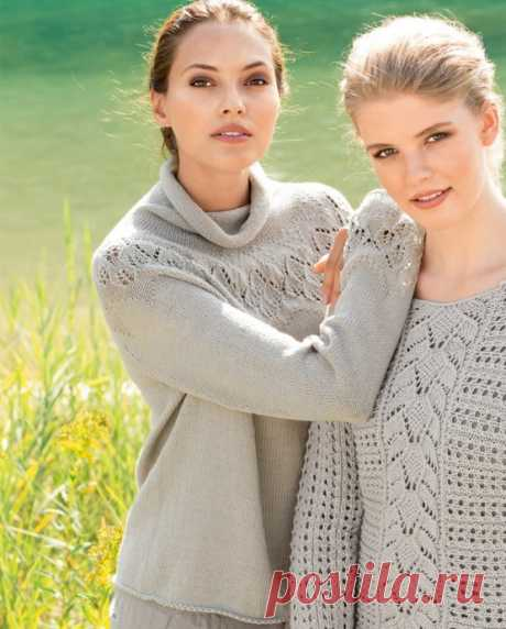 We knit a sweater with the round coquette