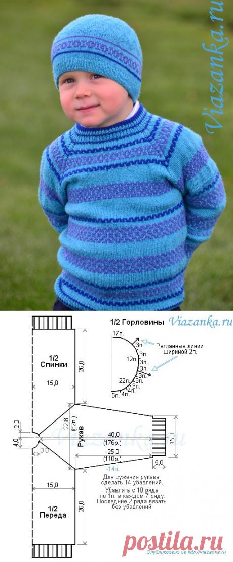 Реглан, связанный сверху   Viazanka.ru