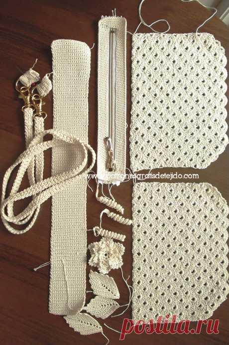 Как сделать сумку для вязания крючком / DIY Tutorial   Вязание крючком и две иглы - Тканевые узоры
