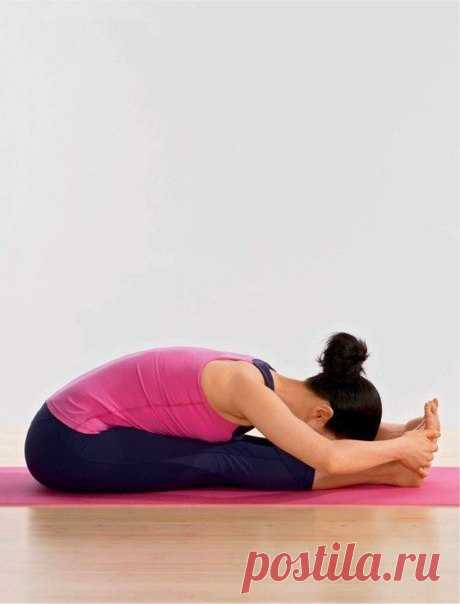 Pashchimottanasana. An inclination to legs sitting