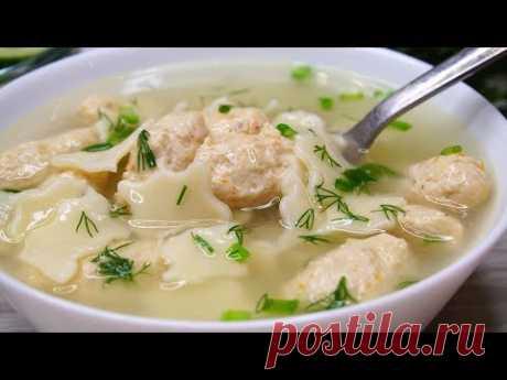 """Суп """"Сплошное Удовольствие"""" Очень Вкусно , Просто и Быстро! - YouTubeСуп с мясными клецками."""