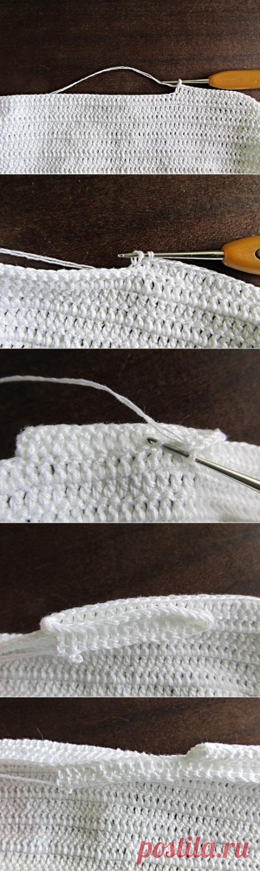 Вязание складок крючком, мастер - классы