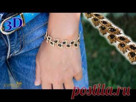 Popular pattern of Leaves Beaded Bracelet. You can use: Miyuki Beads 15/0 (Toho Beads 15/0 or Preciosa Beads 11/0, 10/0 etc.) Patterns: https://www.vipbiser.c...