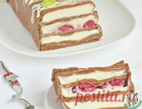 """Шоколадный блинный торт """"Вишневый переполох"""" – кулинарный рецепт"""