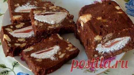 Холодный торт с зефиром Хотите приготовить удивительно нежный десерт? Вашему вниманию предлагается холодный торт сзефиром без выпечки.