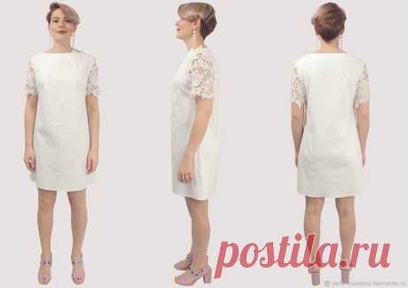Платье белое хлопковое короткое с кружевом – купить на Ярмарке Мастеров – LP6NMRU | Платья, Москва