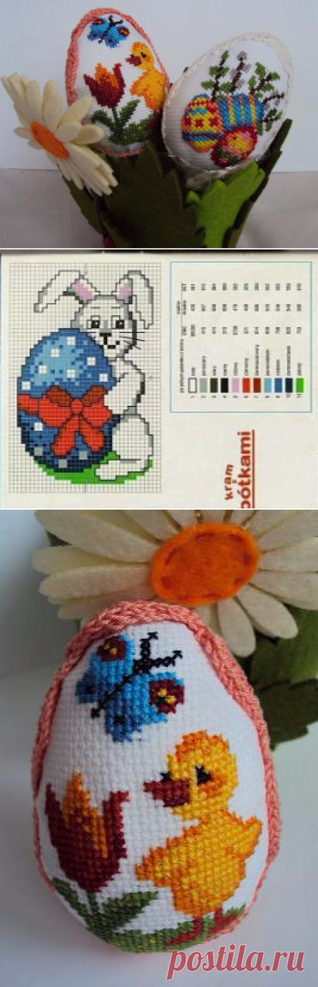 Множество миниатюрных схем вышивки для пасхальных яиц. Схемы и идеи.