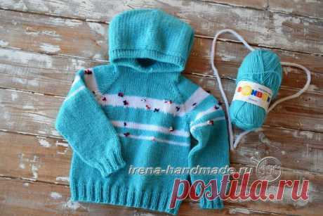Детский худи с капюшоном (вязание, схемы и фото) - Irena Handmade