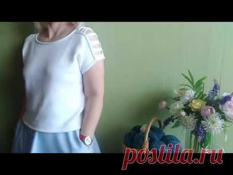 """Вязание. Подробный экспресс мк. Летняя футболка """"Бриз"""" (""""Хулиганка"""")."""