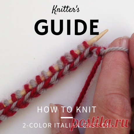 How To Knit a 2 Color Italian Cast-on — Blog.NobleKnits