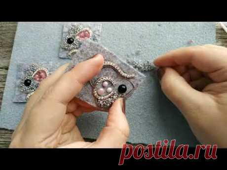 Вышивка  броши бисером