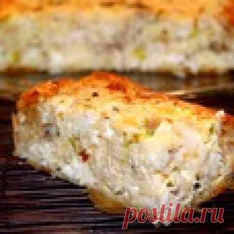 Греческий деревенский пирог с курицей Кулинарный рецепт