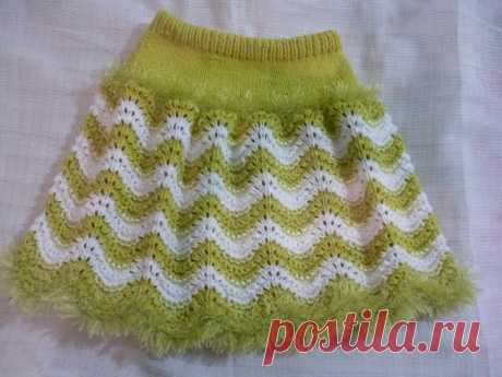 Новая юбочка для внучки | Вязание спицами для детей