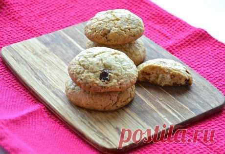 Овсяное печенье с белым шоколадом. Автор: Тарелкина