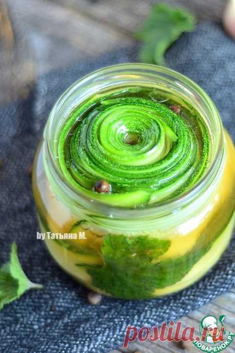 Кабачок, маринованный слайсами – кулинарный рецепт