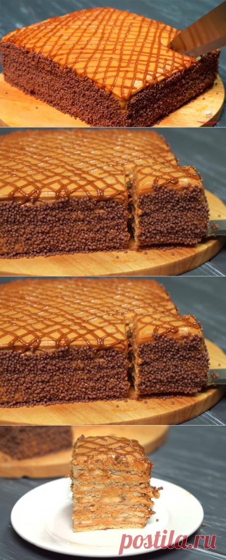 Торт без духовки и печенья🍰