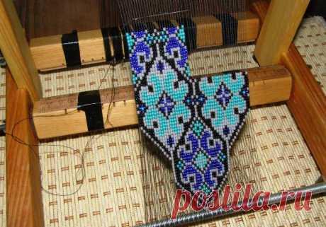 Мк плетению на станке - Воздушное колье. МК / воздушное колье из бисера