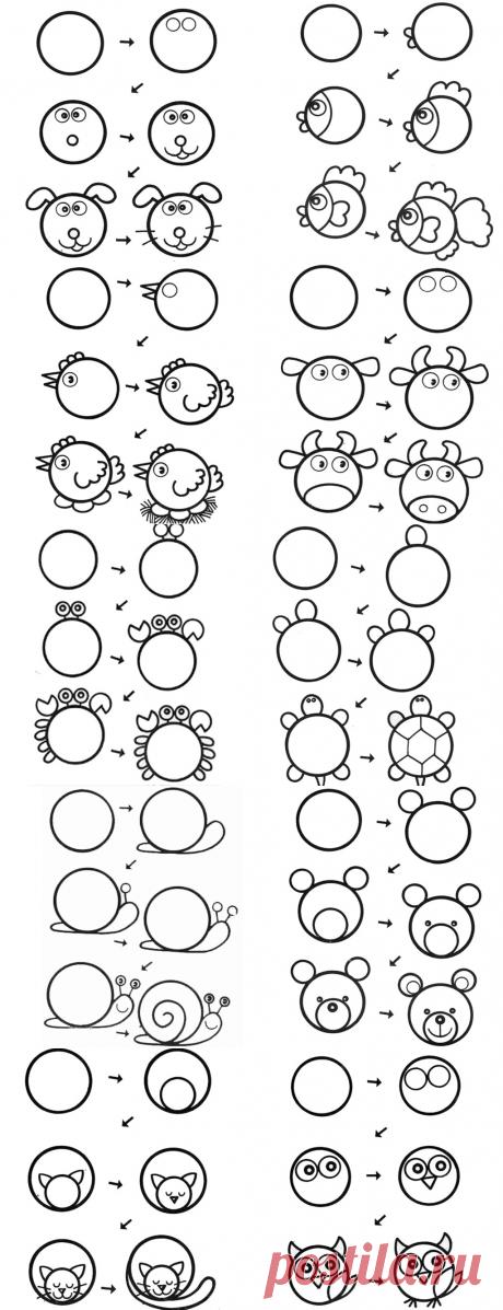 Рисуем из кругов. Идеи и схемы — Я happy МАМА