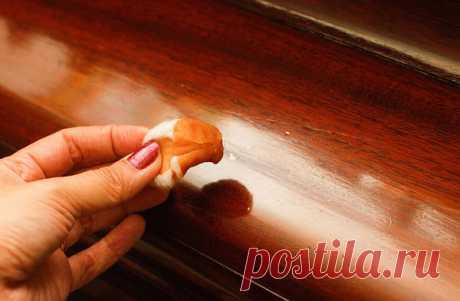 Еще один совет как закрасить царапины на мебели! — Полезные советы