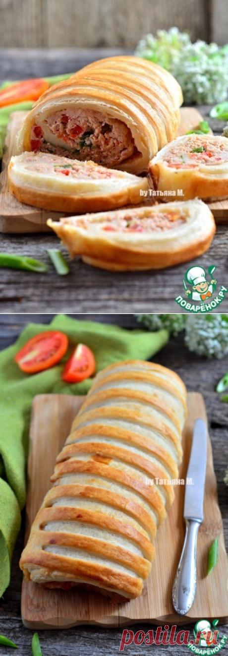 Закусочный рулет с мясом - кулинарный рецепт