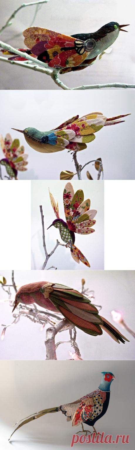 Яркие птицы из лоскутов — Рукоделие