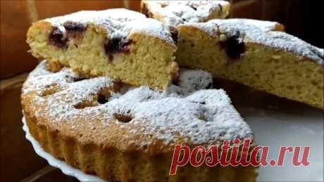 Пирог с вишней — Кулинарная книга - рецепты с фото