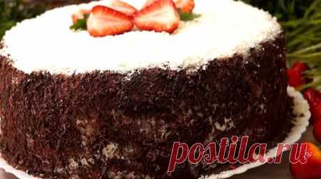 Необыкновенный праздничный торт приятно удивит вас своим внешним видом: особенно в разрезе. Он настолько оригинальный, что вызывает восторг у всех. Приготовить его достаточно легко и просто. Самое сложное в рецепте: дождаться, пока торт пропитается в холодильнике.