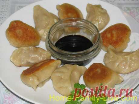Жареные китайские пельмени