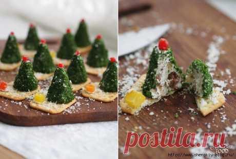 Сырные елочки к праздничному столу!