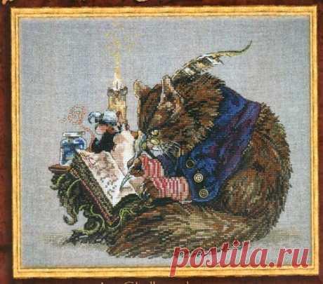 Вышивка крестом ученый кот. Вышивка крестом сказочные персонажи