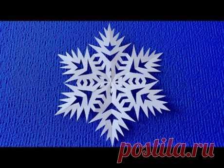 Как красиво вырезать снежинку из бумаги.Снежинка из бумаги просто. Paper Snowflake Tutorial