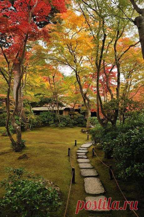Прекрасный садик Okochi Sanso в Киото, Япония